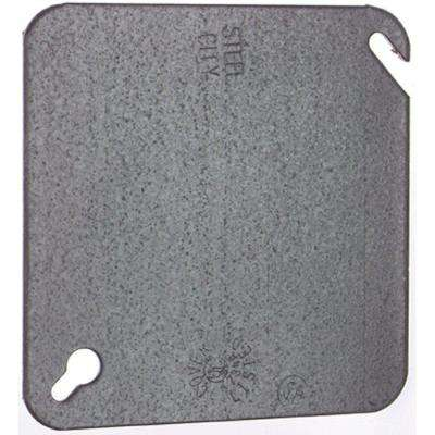 4 in. Square Steel Box Flat Cover (Case of 50)