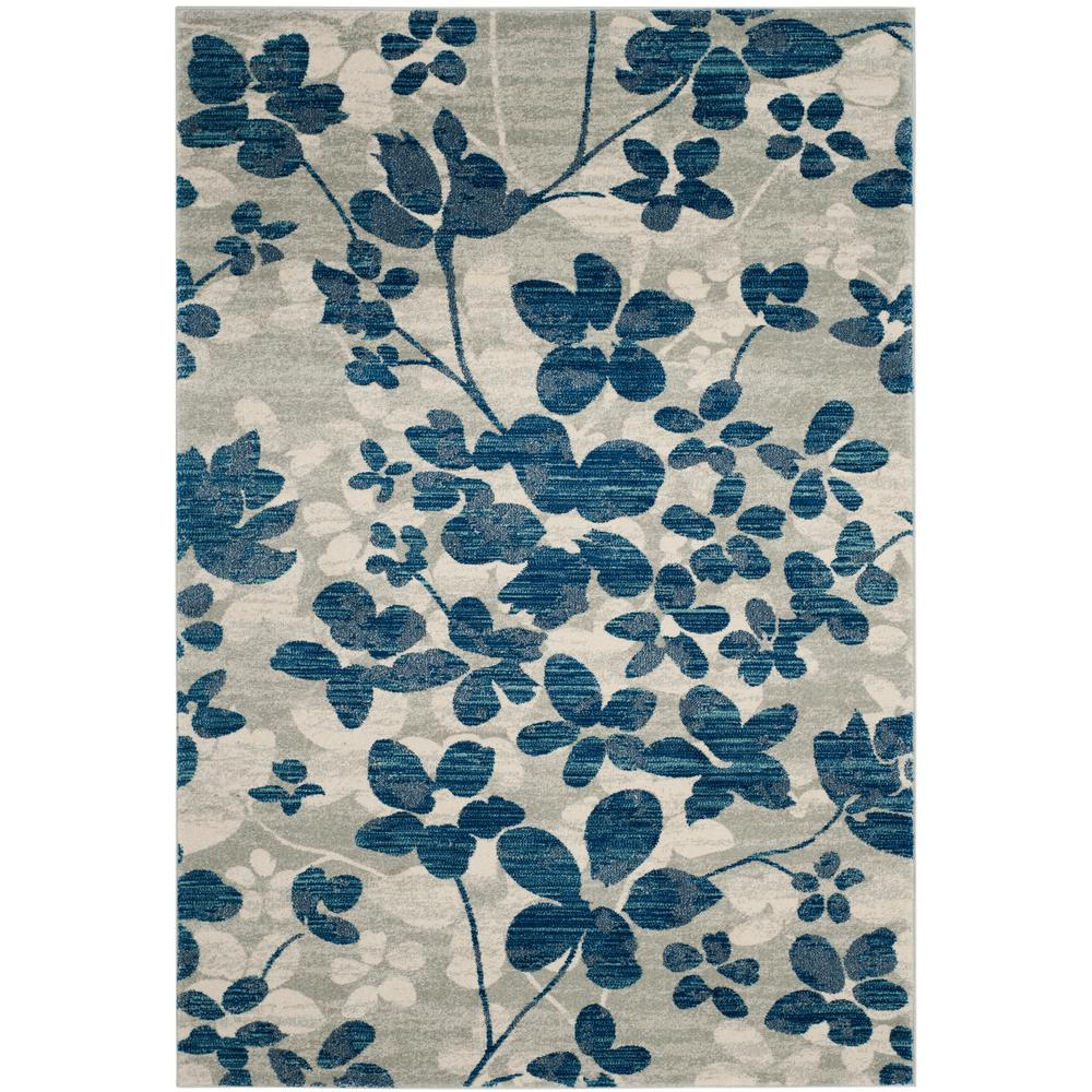Evoke GrayLight Blue 7 ft x 9