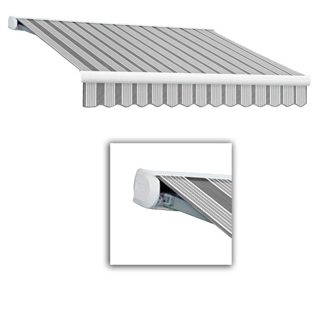 AWNTECH 12 ft. Key West Full-Cassette Manual Retractable Awning (120 in. Projection) in Gun/Gray