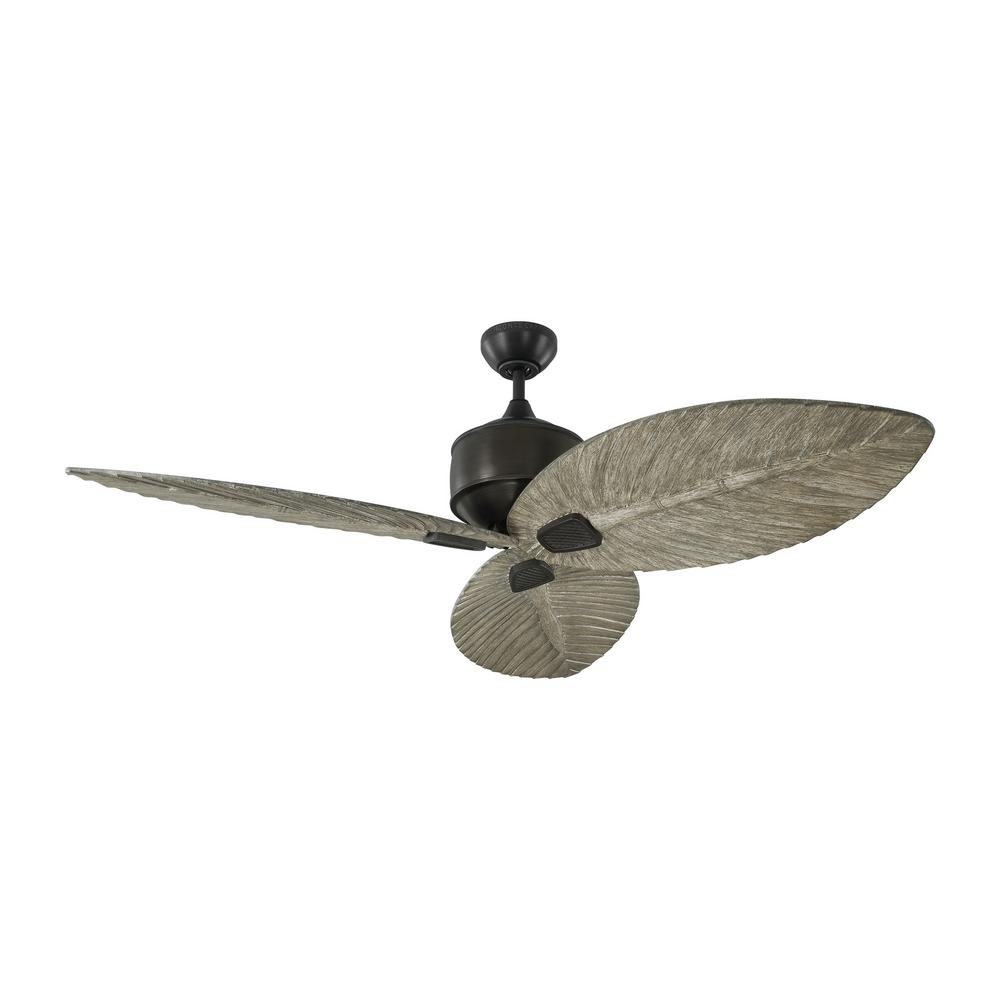 Monte Carlo Delray 56 in. Indoor/Outdoor Aged Pewter Ceiling Fan