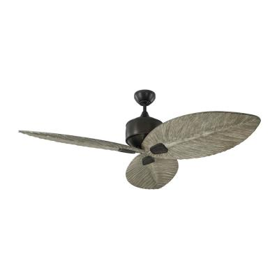 Delray 56 in. Indoor/Outdoor Aged Pewter Ceiling Fan