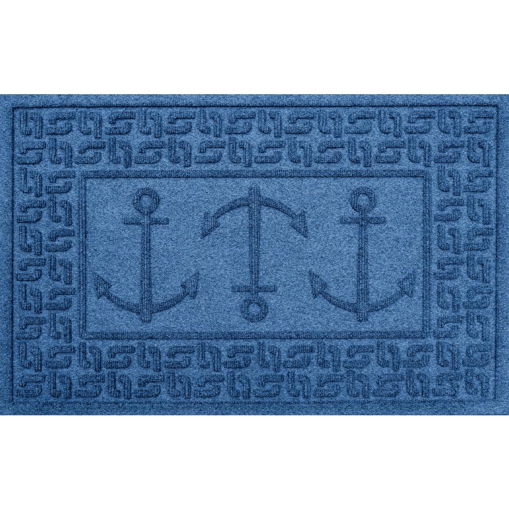 Aqua Shield Medium Blue 24 in. x 36 in. Ahoy! Polypropylene Door Mat