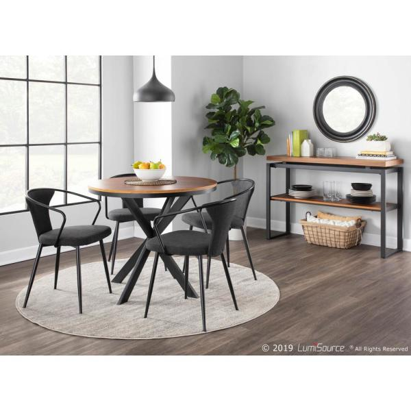 Dinette Table In Black Metal