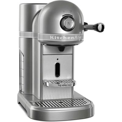 KitchenAid-Nespresso 5-Cup Sugar Pearl Silver Drip Espresso Machine with Milk Frother