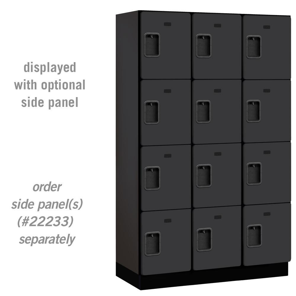 24000 Series 4-Tier 18 in. D Extra Wide Designer Particle Board Locker in Black