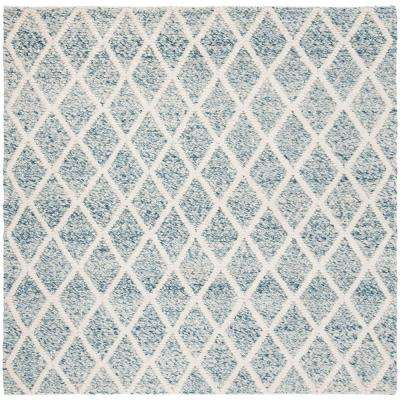 Natura Ivory/Blue 6 ft. x 6 ft. Square Area Rug