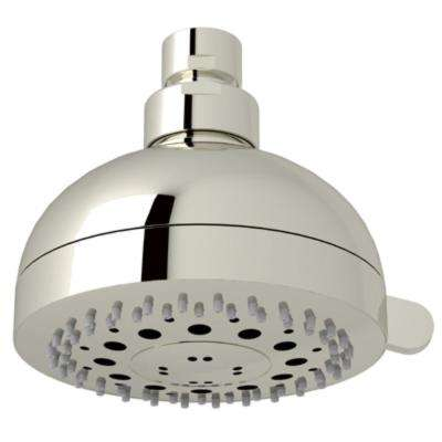 Rovato 3-Spray 4 in. Fixed Showerhead in Polished Nickel