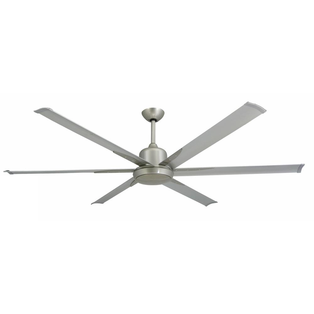 Indoor outdoor brushed nickel ceiling fan and light