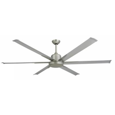 Titan 72 in. Indoor/Outdoor Brushed Nickel Ceiling Fan and Light