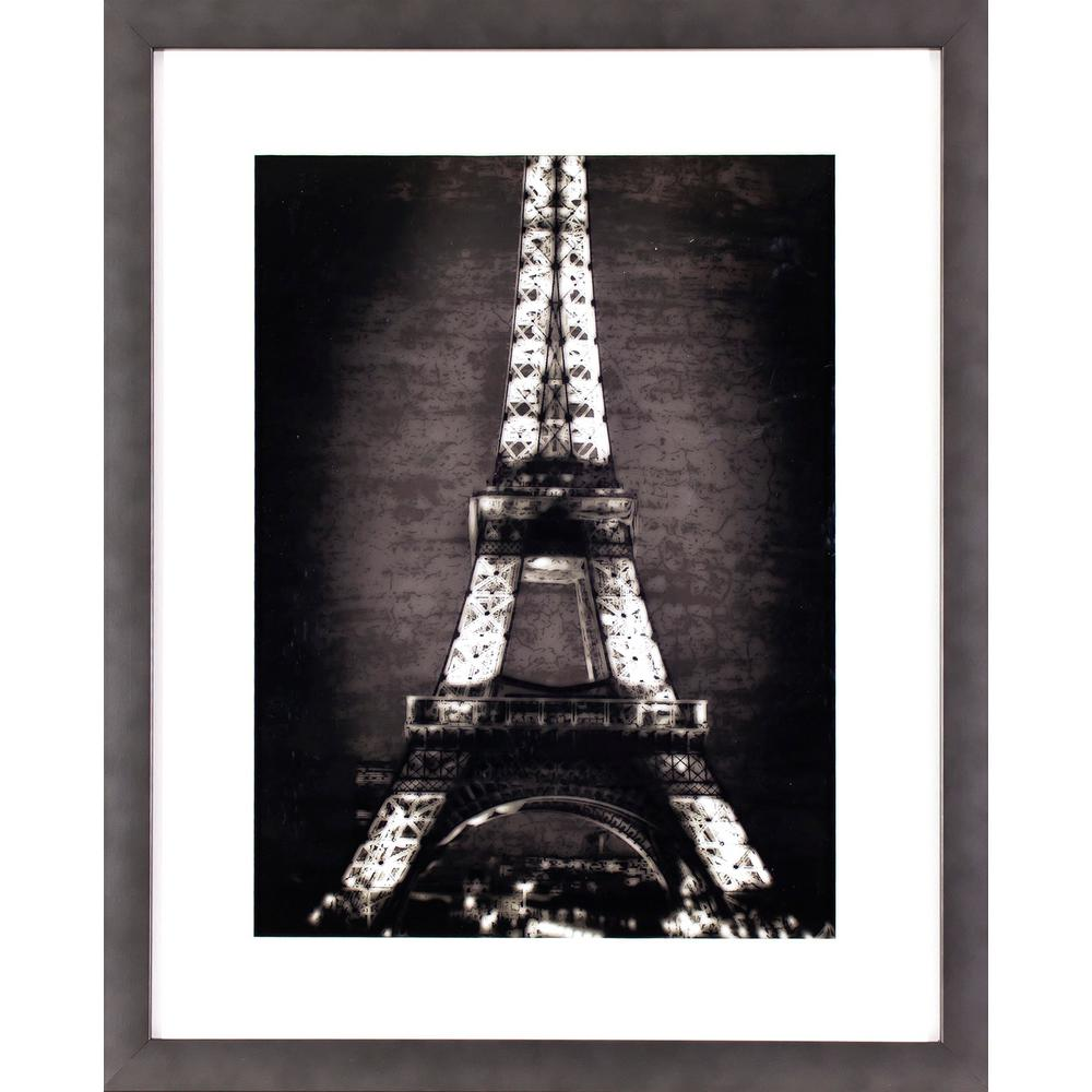Decor therapy 21 5 in x 17 5 in black and white eiffel for Eiffel tower wall mural black and white