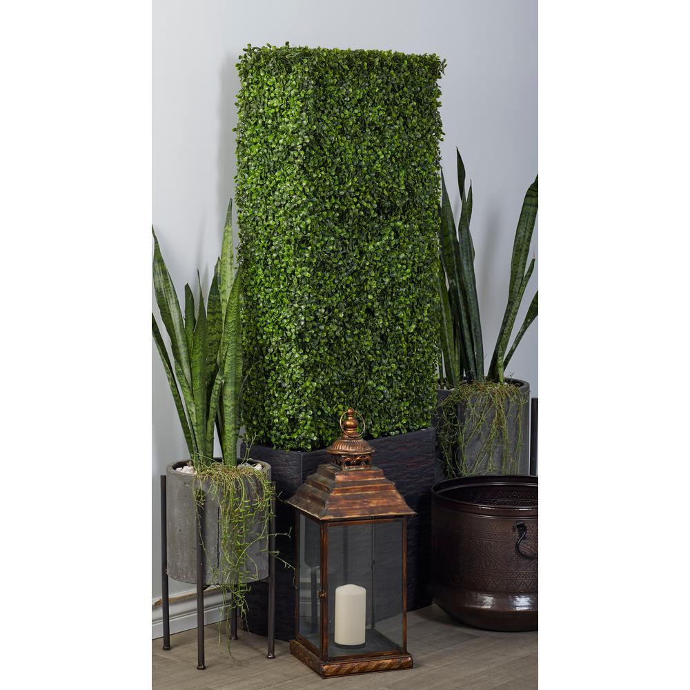 Artificial Small-Leaf Boxwood Hedge on Slab Planter