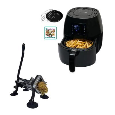 Avalon Bay Digital Display Air Fryer and Restaurant Style French Fry Cutter
