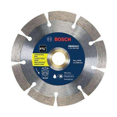 4-1/2 in. Premium Segmented Rim Diamond Blade for Universal Rough Cut