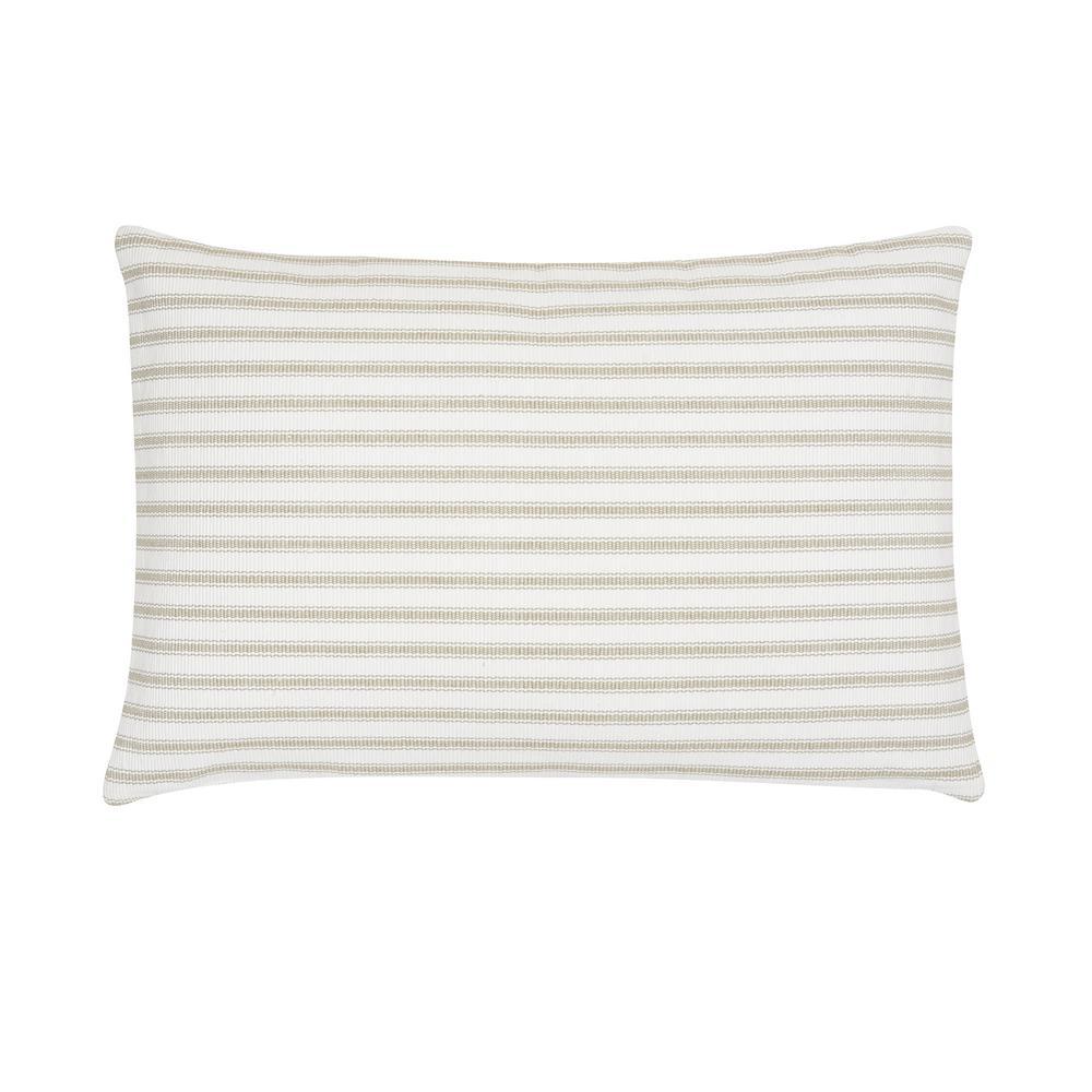 Ticking Sandstone Striped Down Alternative 22 in. x 4 in. Throw Pillow