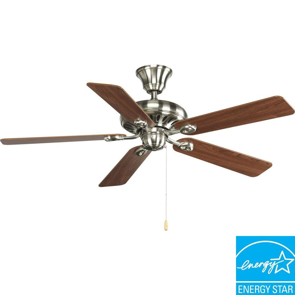 Progress Lighting AirPro Signature 52 in. Brushed Nickel Ceiling Fan