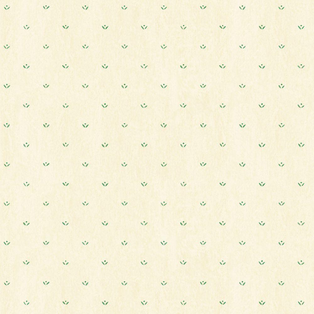The Wallpaper Company 56 sq. ft. Neutral Leaf and Dot Spot Wallpaper