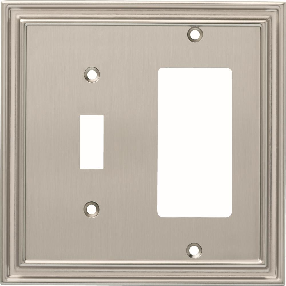 Nickel 2-Gang 1-Toggle/1-Decorator/Rocker Wall Plate (1-Pack)