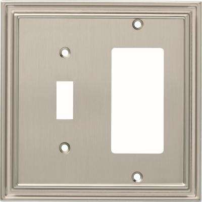 Silverton 2-Gang Switch and Decorator, Satin Nickel