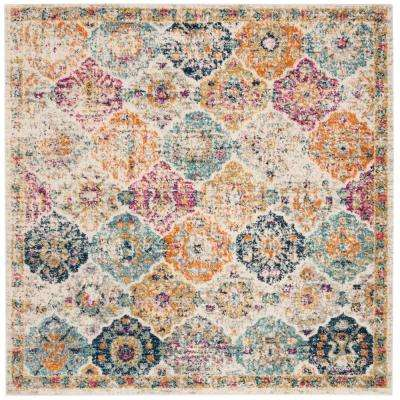 Madison Cream/Multi 5 ft. x 5 ft. Square Area Rug