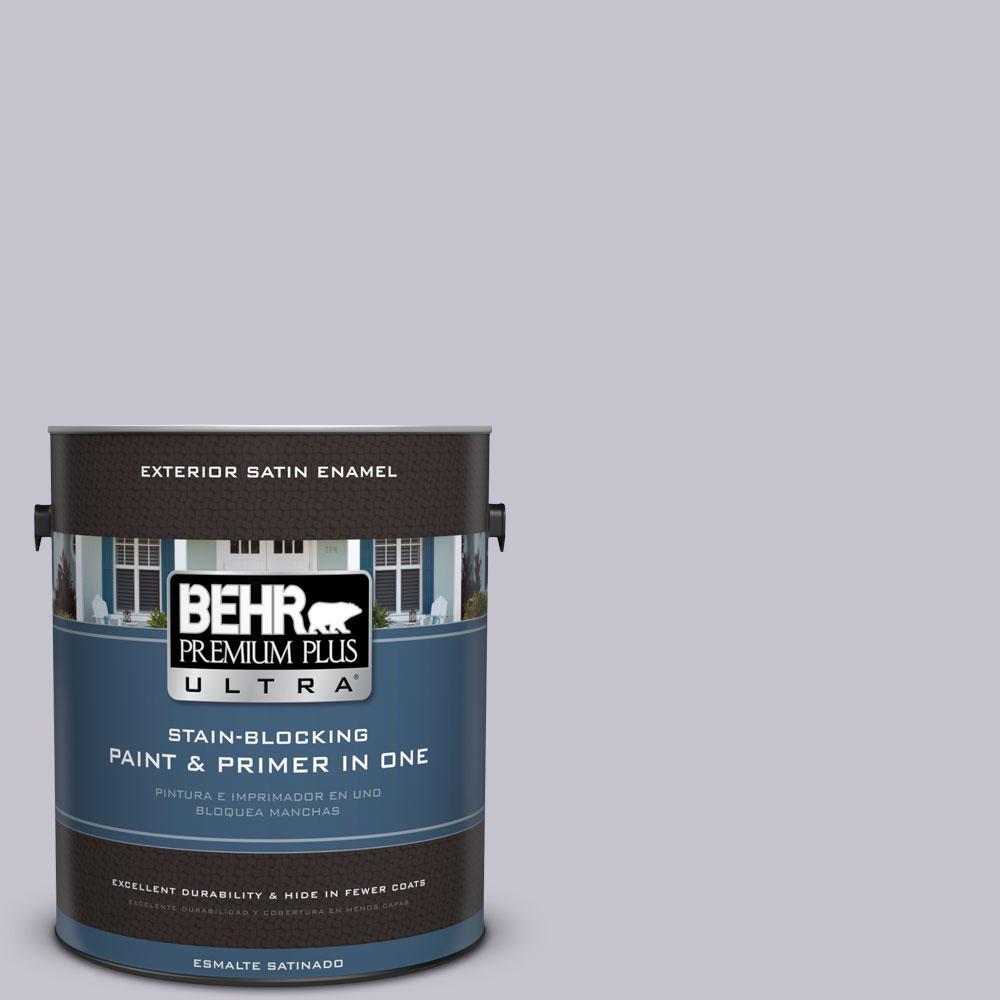BEHR Premium Plus Ultra 1-gal. #N560-1 Posture and Pose Satin Enamel Exterior Paint