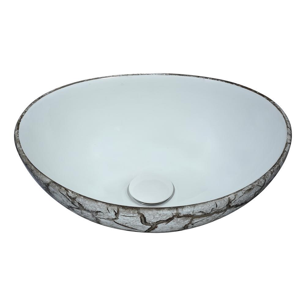 ANZZI Sona Series Ceramic Vessel Sink in Grey by ANZZI