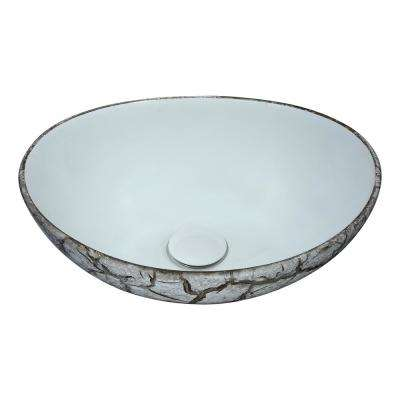 Sona Series Ceramic Vessel Sink in Grey