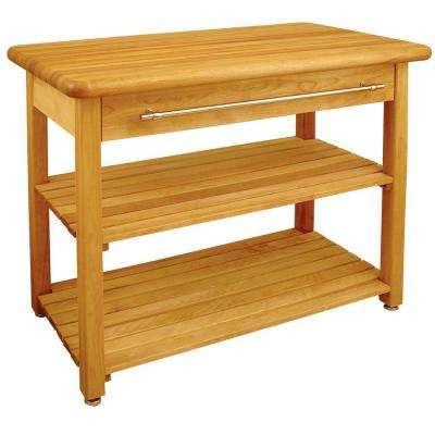 Contemporary Harvest Natural Kitchen Utility Table