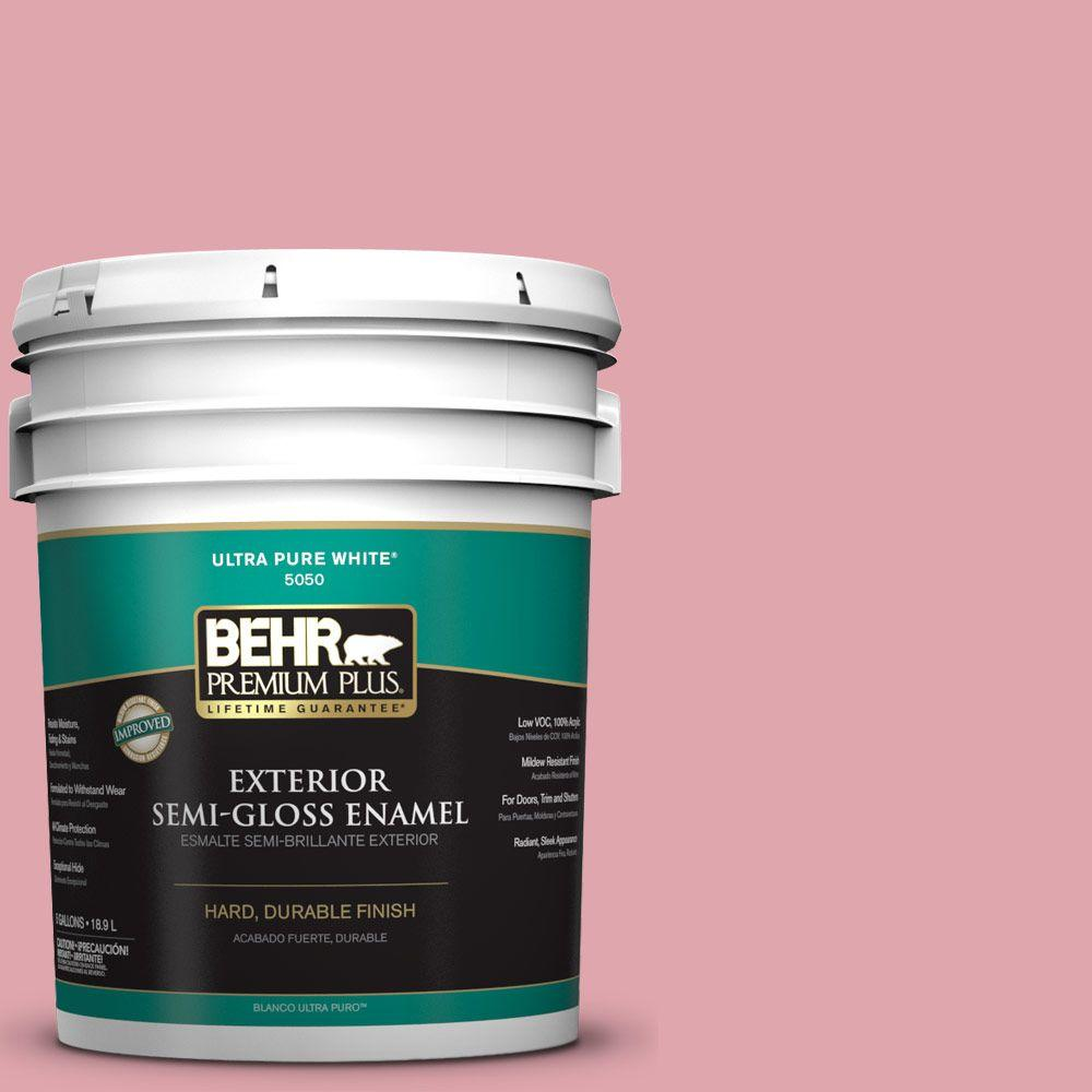 5-gal. #M150-3 Apple Blossom Semi-Gloss Enamel Exterior Paint
