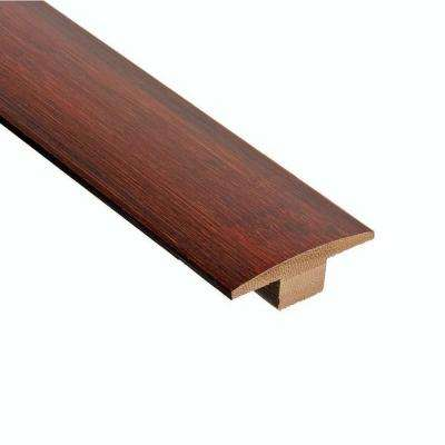 Horizontal Chestnut 3/8 in. Thick x 2 in. Wide x 78 in. Length Bamboo T-Molding