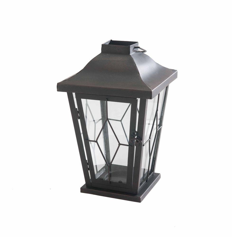 Sunjoy Carriage Candle Lantern, Browns/Tans