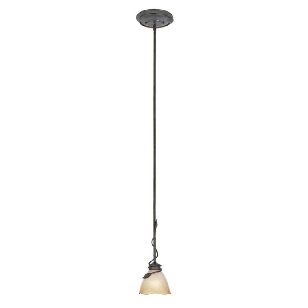 Belle Rose Collection 1-Light Old Bronze Hanging Pendant