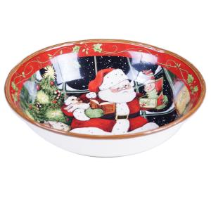 Santa's Workshop Pasta and Salad Serving Bowl by
