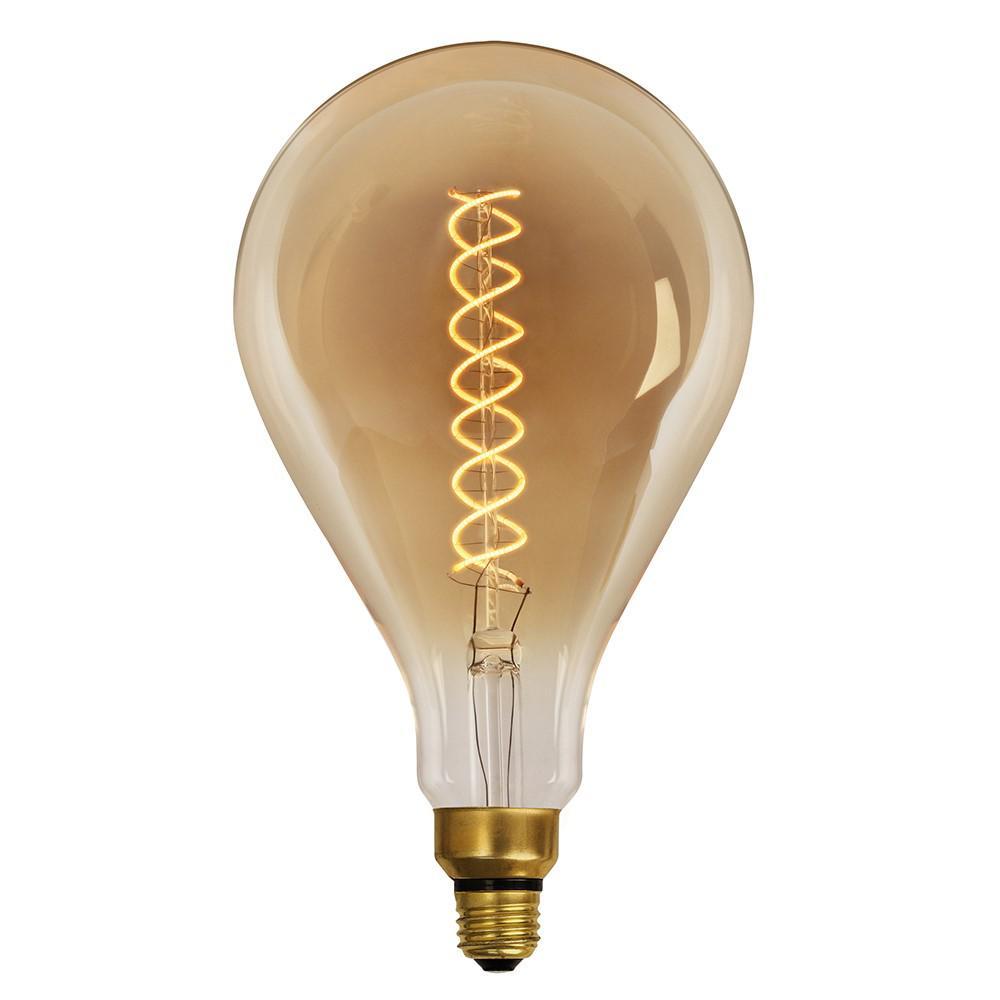 60-Watt Equivalent Soft White PS50 Dimmable LED Oversized Antique Edison Amber Filament Vintage Style Large Light Bulb