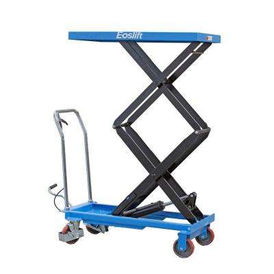 770 lbs. 20.5 in. x 39.8 in. Dual Scissor Lift Table Cart