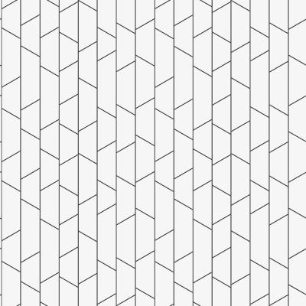 57.8 sq. ft. Angle White Geometric Wallpaper