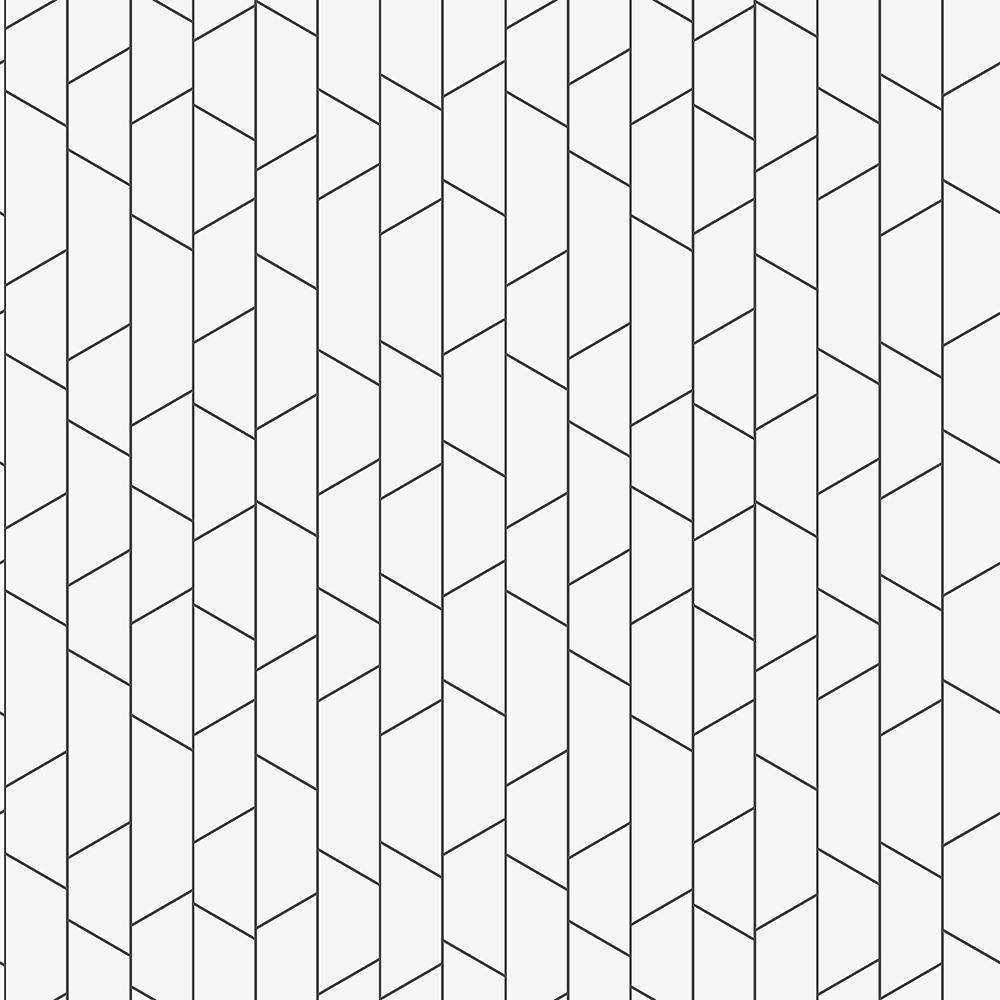 8 in. x 10 in. Angle White Geometric Wallpaper Sample