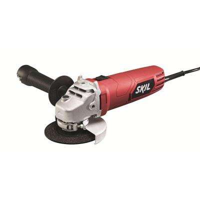 Factory Reconditioned Corded Electric 4-1/2 in. Angle Grinder Kit for Metal, Wood, Brick, Tile and Stone