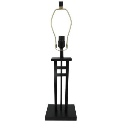 Mix and Match 24.75 in. Black Column Table Lamp - Title 20