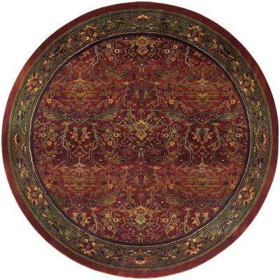 Peace Brick 8 ft. x 8 ft. Round Area Rug