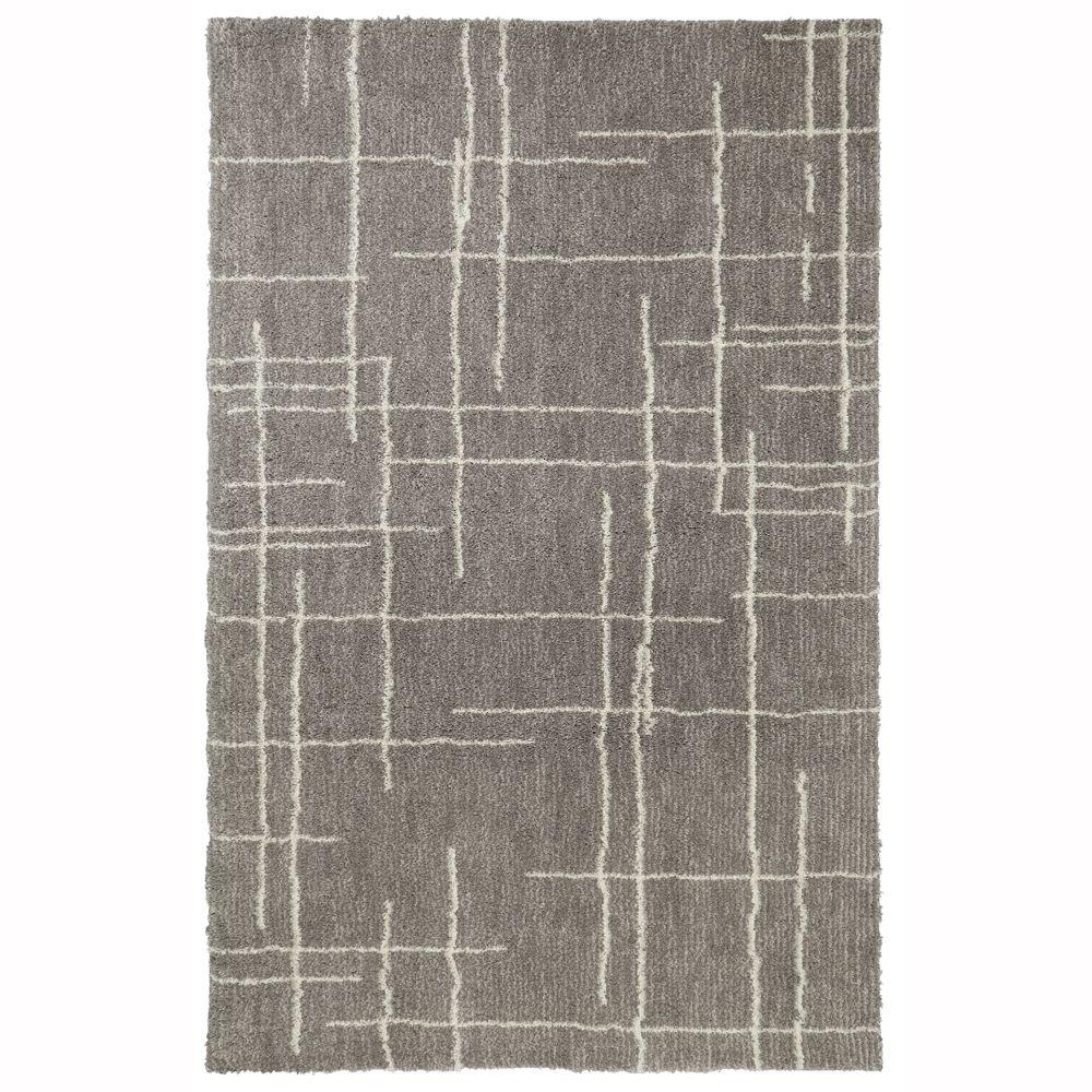 Linus Grey 5 ft. x 8 ft. Area Rug