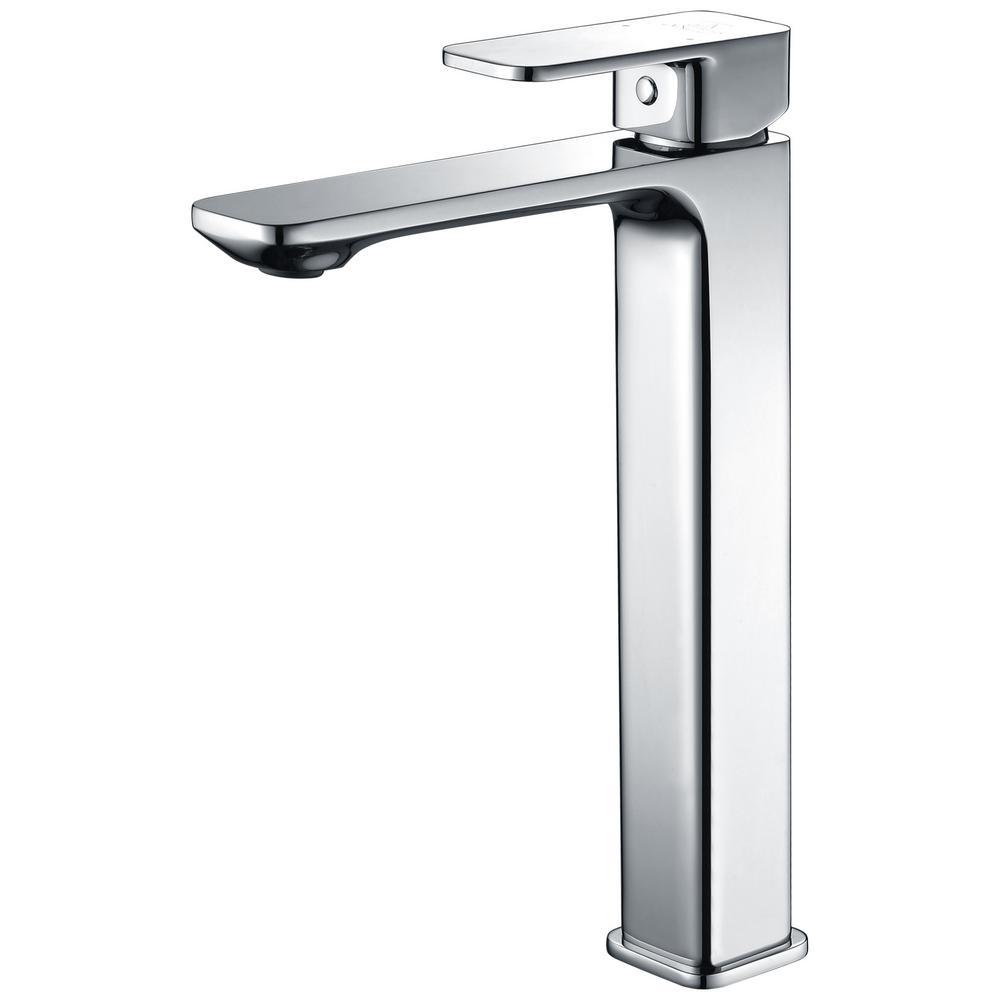 Vibra Single Hole Single-Handle Bathroom Faucet in Polished Chrome