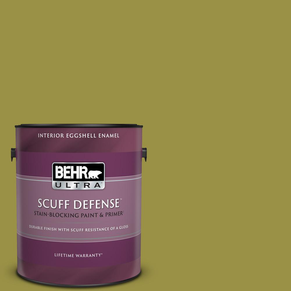Behr Ultra 1 Gal Home Decorators Collection Hdc Fl13 8 Tangy Dill Extra Durable Eggshell Enamel Interior Paint Primer 275301 The Home Depot