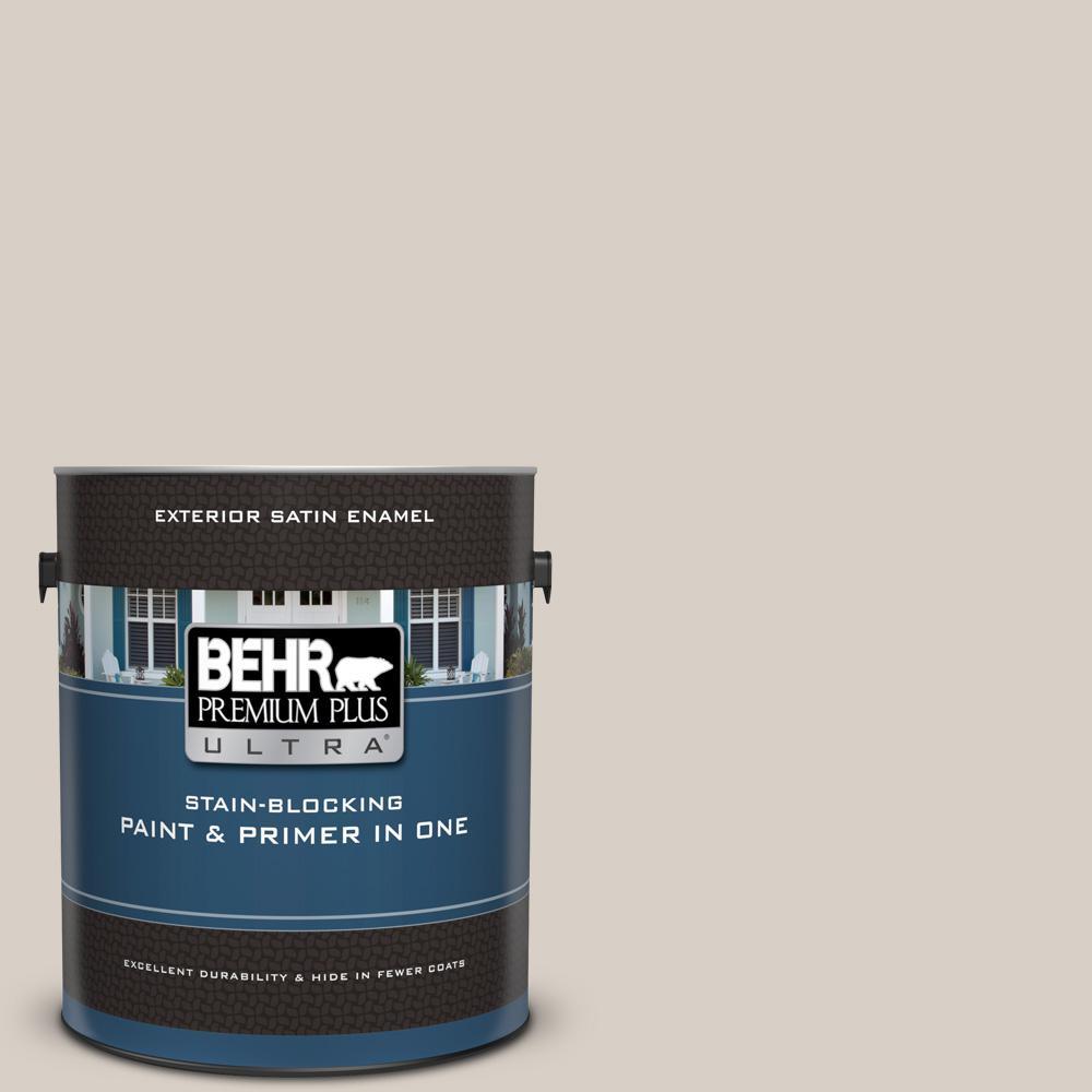 Behr Premium Plus Ultra 1 Gal Ul170 15 Mineral Satin Enamel Exterior Paint