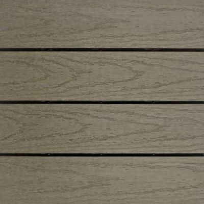 UltraShield Naturale 1 ft. x 1 ft. Quick Deck Outdoor Composite Deck Tile in Egyptian Stone Gray (10 sq. ft. Per Box)