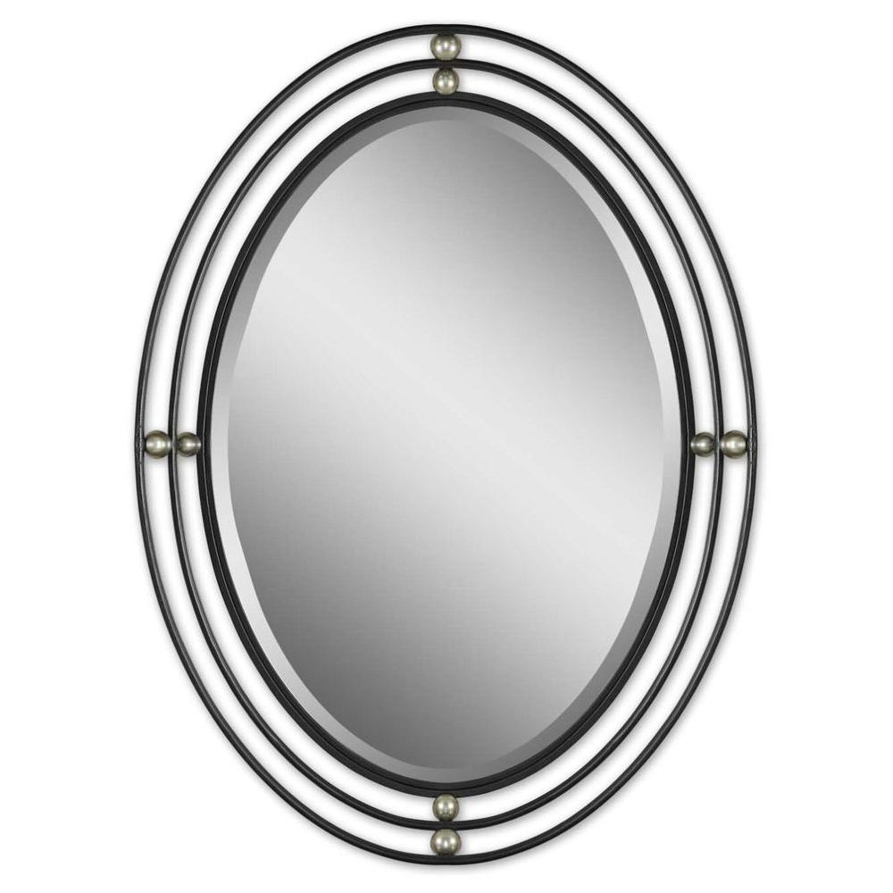 Global Direct 27 in. x 37 in. Oval Metal Framed Mirror-DISCONTINUED
