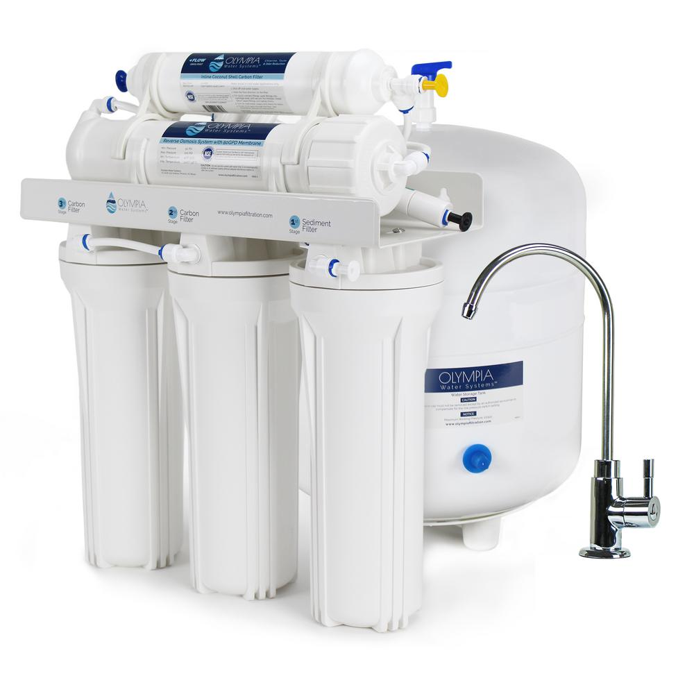 5 Stage Under Sink Reverse Osmosis Water Filtration System With 50 GPD  Membrane