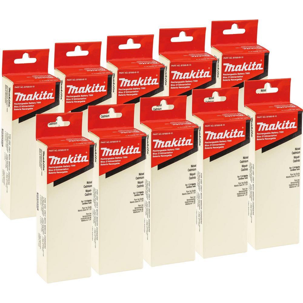 7.2-Volt Ni-Cad Stick Battery (10-Pack)