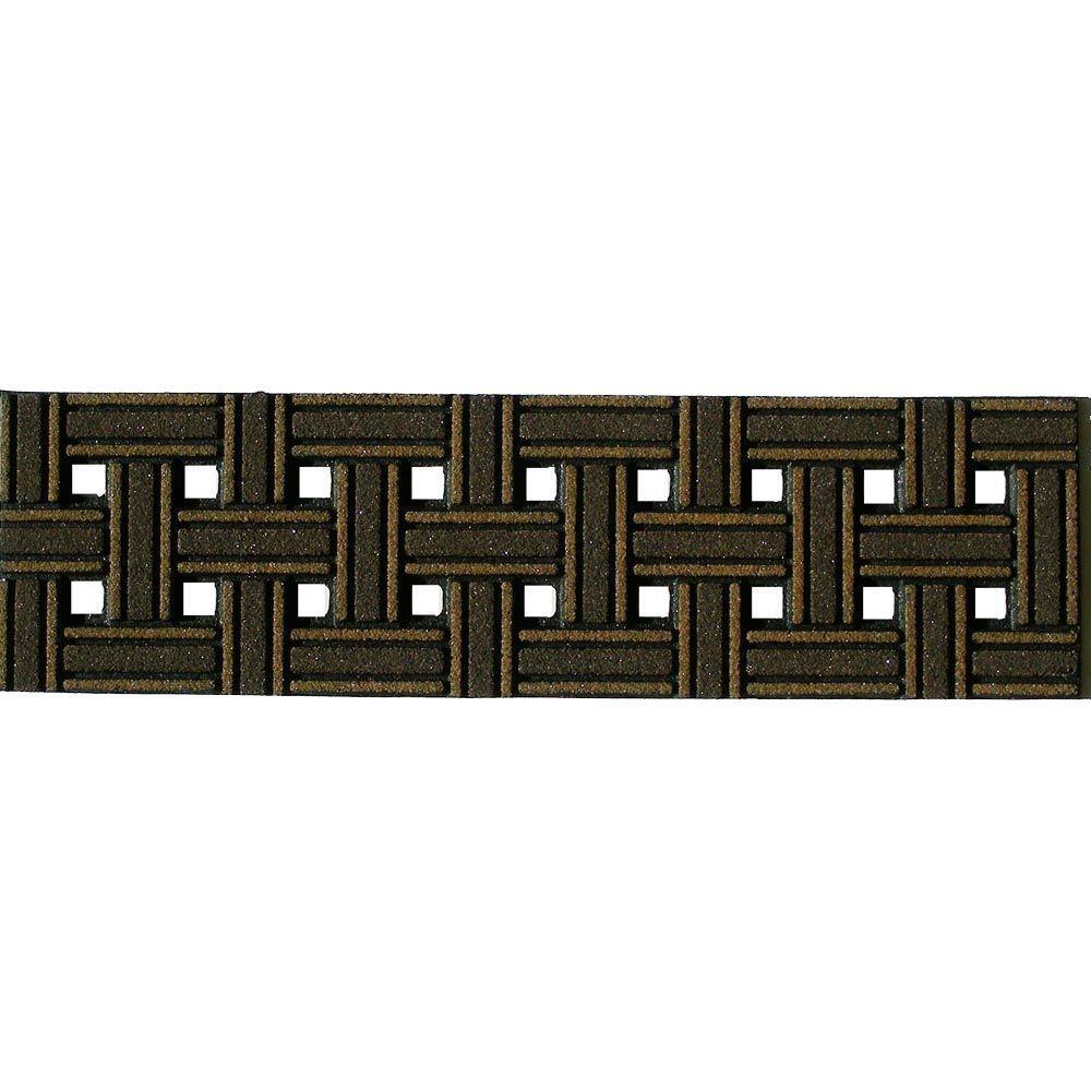 Weave Brown 8-1/4 in. x 2 ft. 6 in. Stair Tread