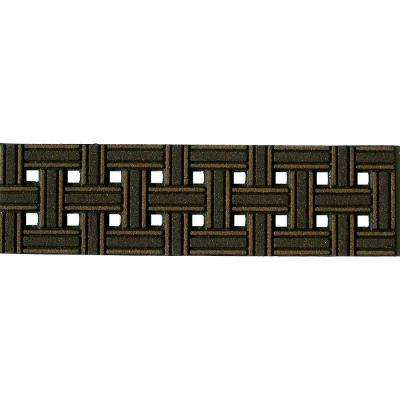Weave Brown 8-1/4 in. x 2 ft. 6 in. Stair Tread Cover