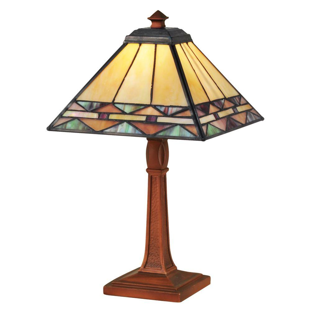 Dale Tiffany 13.75 in. Slayter Antique Bronze Accent Lamp